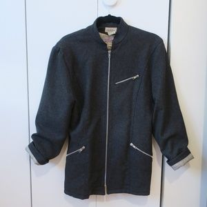 Vintage Saks Fifth Ave Wool Motorcycle Jacket